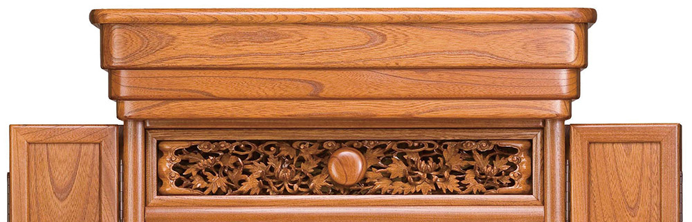 欅仏壇 欄間