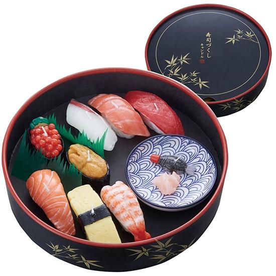 寿司づくし キャンドル ギフトセット (故人の好物シリーズ)