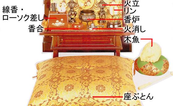 仏壇の飾り方 下