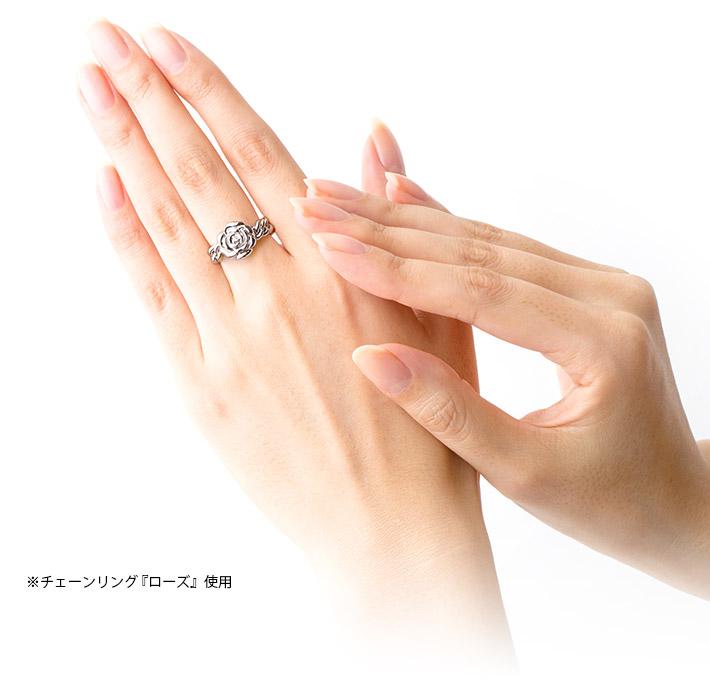 遺骨ペンダント Soul Jewelry チェーンリング ハート シルバー925 遺骨アクセサリー